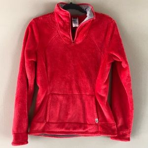 The north face hot pink osito fleece pullover S